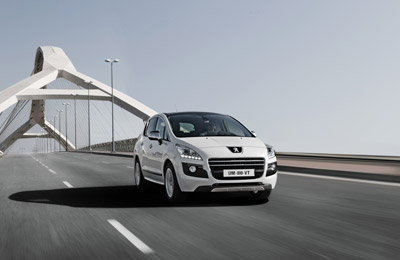 Peugeot 3008 crossing a bridge
