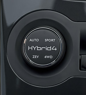 The central part of the steering column controls the driving modes