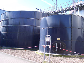 An anaerobic digestion plant - image courtesy of WRAP